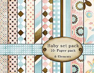 Baby paper set-10