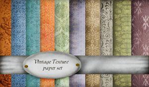 Vintage Texture paper set Web
