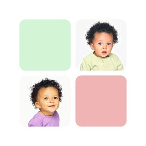 30x30 collage 2 photo 2 color block