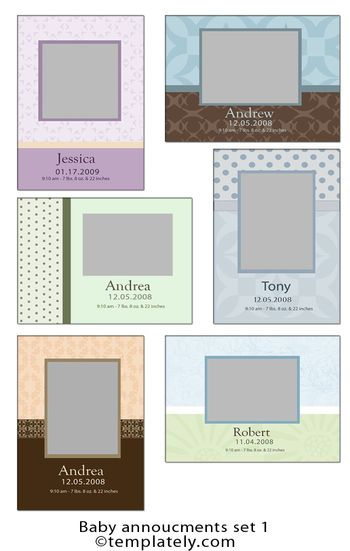 Baby annoucments set 1 web