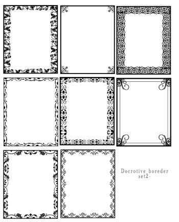 designs for borders. Decorative orders Set two -