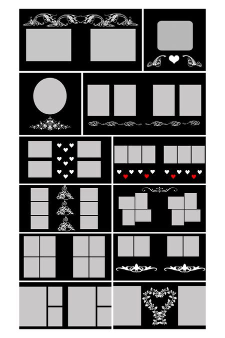 10x10 Boudoir Book Templates Ps Layers 30 Unled 1